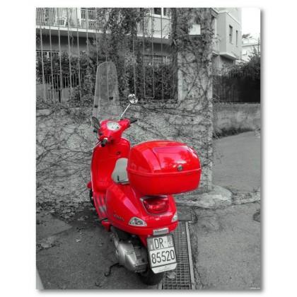 Αφίσα (κόκκινος, vespa, μαύρο, λευκό, άσπρο)